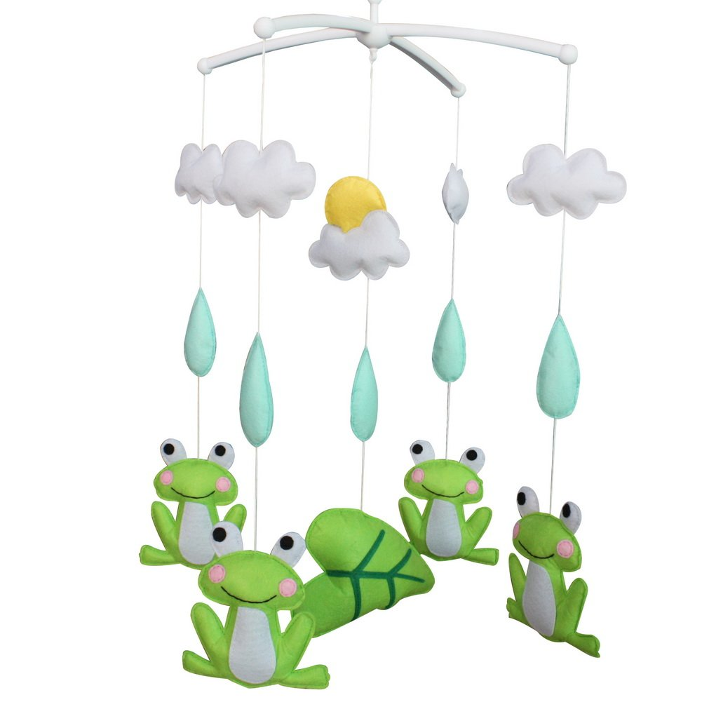 Adorable Gift Cute Super special price Nursery Room Frog Mobile Crib Decoration OFFicial mail order