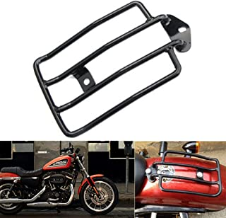 Mooreaxe Motorcycle Rear Solo Seat Luggage Shelf Rack Steel Standard Rear Fender Rack Bracket For Harley XL Sportster 883 1200 2004-2015 With Stock Seats (Black)