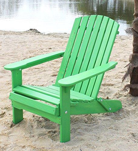 DanDiBo Strandstuhl aus Holz Grün Gartenstuhl klappbar Adirondack Chair Sonnenstuhl