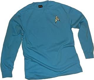 Star Trek Science Blue Uniform Adult Long-Sleeve T-Shirt