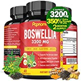 Organic Boswellia Serrata Extract Capsules 3200MG with Turmeric, Ginger, Black Pepper, Green Tea |...