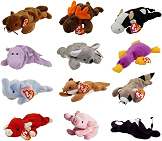 TY Beanie Babies - WILD ANIMALS #1 (Set of 12)(Bucky, Daisy, Happy, Mel, Patti, Sly +6)(8-9.5 inch)