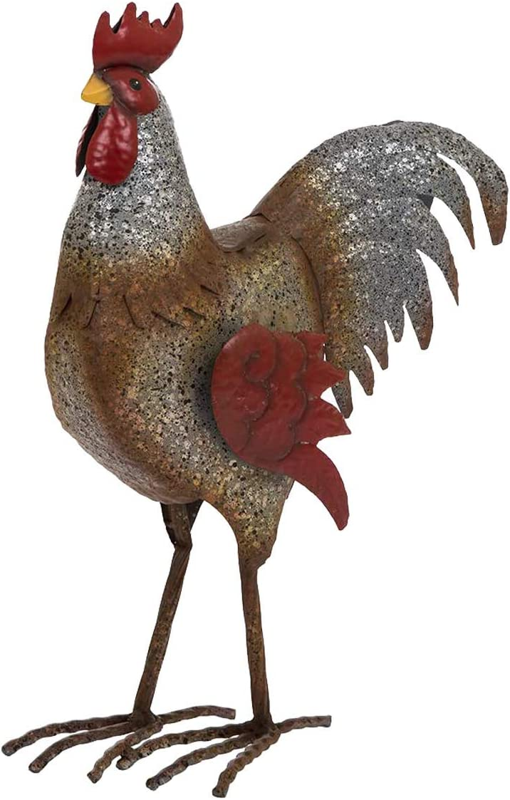 Jetlinkcrafts JK78632 Galvanized Garden Statue Decor Hen