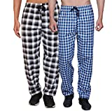 Maxis Men's Cotton Pyjama Bottom (Black and Blue, 4X-Large) - Pack of 2