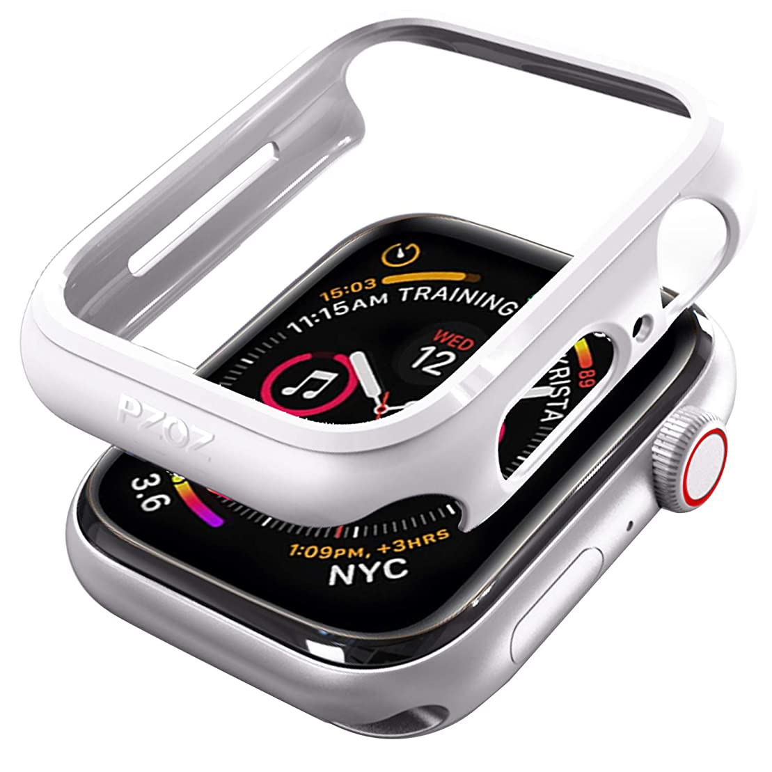 水曜日その間目立つPZOZ Apple Watch 4 44mm ケース アップルウォッチ カバー PC軽量超簿 耐衝撃性 Apple Watch Series 4 44mm 対応(ホワイト)