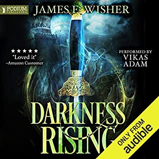 Darkness Rising: Disciples of the Horned One, Volume 1     Soul Force Saga, Book 1              By:                                                                                                                                 James E. Wisher                               Narrated by:                                                                                                                                 Vikas Adam                      Length: 11 hrs and 51 mins     12 ratings     Overall 4.6