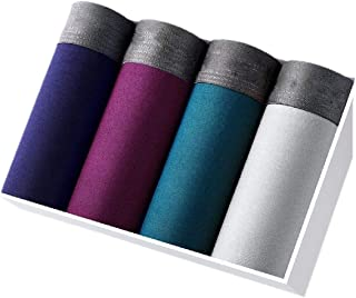 Men 4 Pack Bamboo Rayon Modal Soft Lightweight Briefs