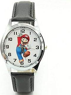 buyaoku Orologio al Quarzo Orologio Super Mario Simpatico Cartone Animato Orologio Super Mario Ragazza Ragazzo
