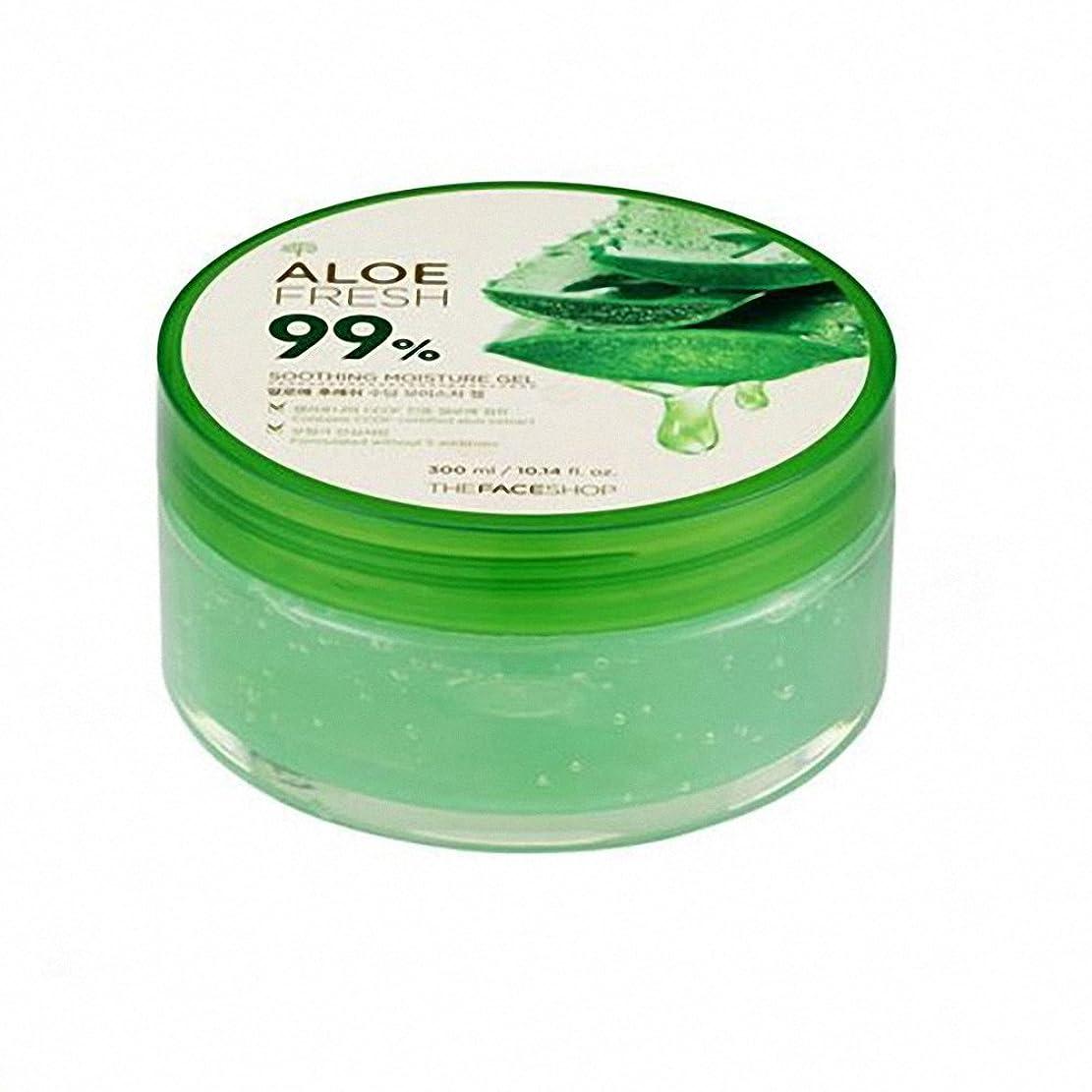 リール告発者スクラッチザ·フェイスショップ The Face Shopアロエフレッシュスージングモイスチャージェル(300ml) The Face Shop Aloe Fresh Soothing Moisture Gel 300ml [海外直送品]