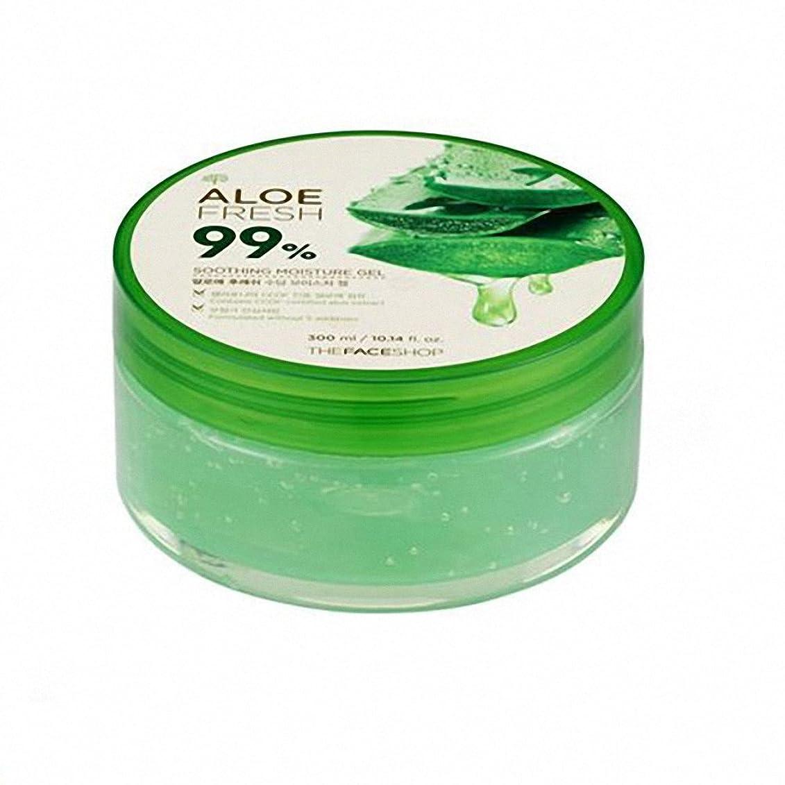 ヘビマオリ刺激するザ·フェイスショップ The Face Shopアロエフレッシュスージングモイスチャージェル(300ml) The Face Shop Aloe Fresh Soothing Moisture Gel 300ml [海外直送品]