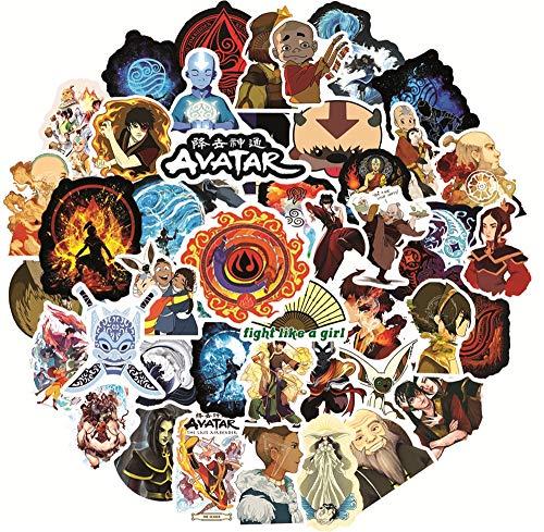 DUOYOU Avatar The Last Airbender - Pegatinas de vinilo para álbumes de recortes, portátil, snowboard, equipaje, nevera, niño, 50 unidades