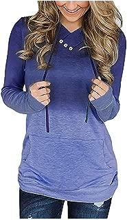 Women Hoodies Tops Long Sleeve Sweatshirt Colorblock Tie Dye Print Tops Casual Pullover