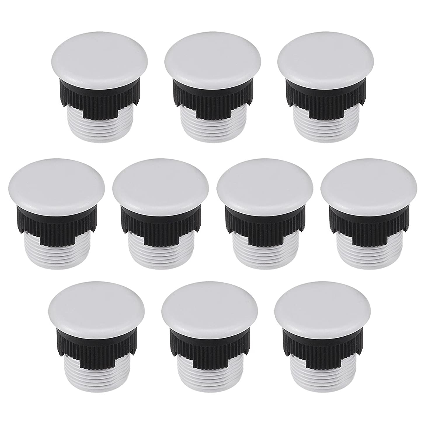 uxcell 10 Pcs 16mm Black Gray Plastic Push Button Switch Hole Panel Plug