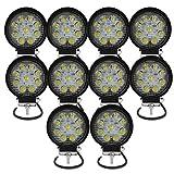 AUXTINGS Faros de Trabajo Led,27W Luces Trabajo Led Flood LED Light Bar Montaje de luces de...