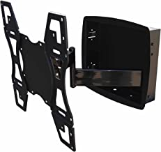 Recessed Flush In-Wall box Articulating Arm mount for LED TV Samsung, LG 32