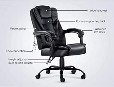 Artiss Massage Office Chairs Electric Recliner Computer Office Chair Massage Gaming Seat