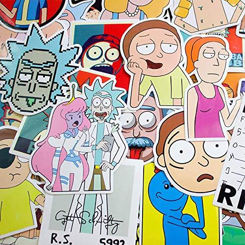 HENJIA 50 Pezzi Cartone Animato Cartone Animato Adesivo Valigia Valigia Laptop Skate