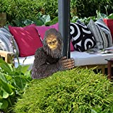 Bigfoot The Bashful Yeti Tree Statue, Bigfoot The Bashful Yeti Garden Tree Sculpture, Whimsical Cartoon Orangutan Sculpture Tree Hugger Decor, Bigfoot 3D Garden Decoration for Outdoor (A)