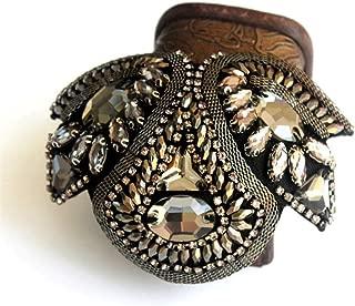 fuchsia Sur pic argent/é Bijoux mari/é homme strass swarovski 6 mm /Épingle /à cravate rond Cr/éation artisanale.