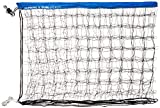 Park & Sun Sports Regulation Size Indoor/Outdoor Recreational Volleyball Net with Rope Cable Top, Blue, One Size