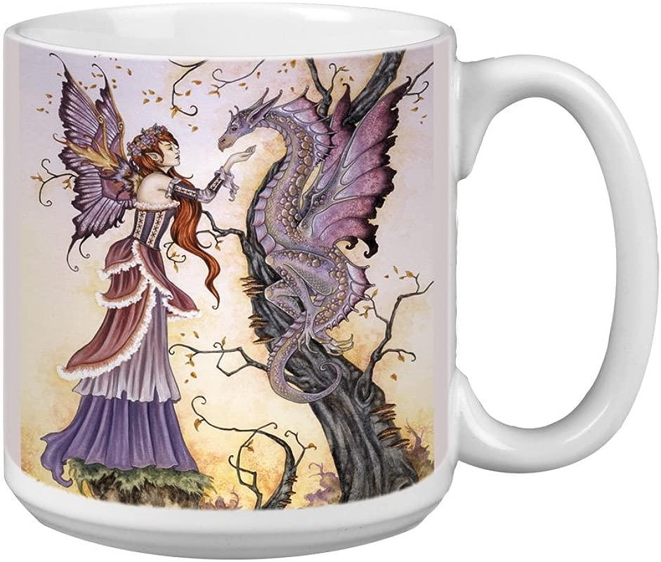 Tree Free Greetings XM27557 Amy Brown Artful Jumbo Mug 20 Ounce Fantasy The Dragon Charmer Fairy