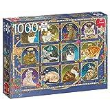 Jumbo Spiele- Jumbo - Puzzle de catoscopio (1000 Piezas), Multicolor (18853)