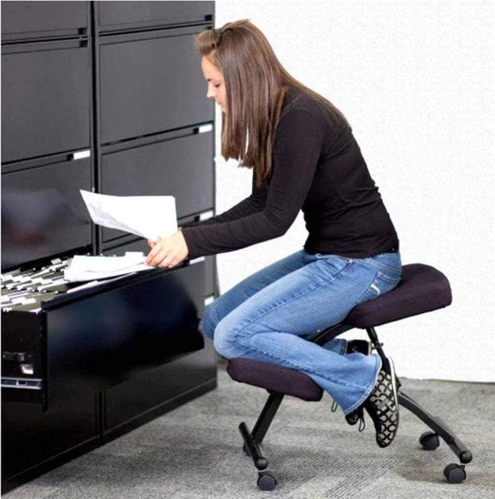 fdxcf Fauteuil Tabouret Réglable Pour La Maison Et Le Bureau - Améliorez Votre Posture Avec Un Siège À Angle - Épaisse Chaise de Taboure À Coussins Confortables,Vert Noir