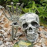 Halloween Deko Skelett Schädel Realistisch Grausigkeit Begraben Lebend Skelett Schädel Garten Hof Rasen Dekos für Halloween Garten Hof Rasen Dekoration - 2