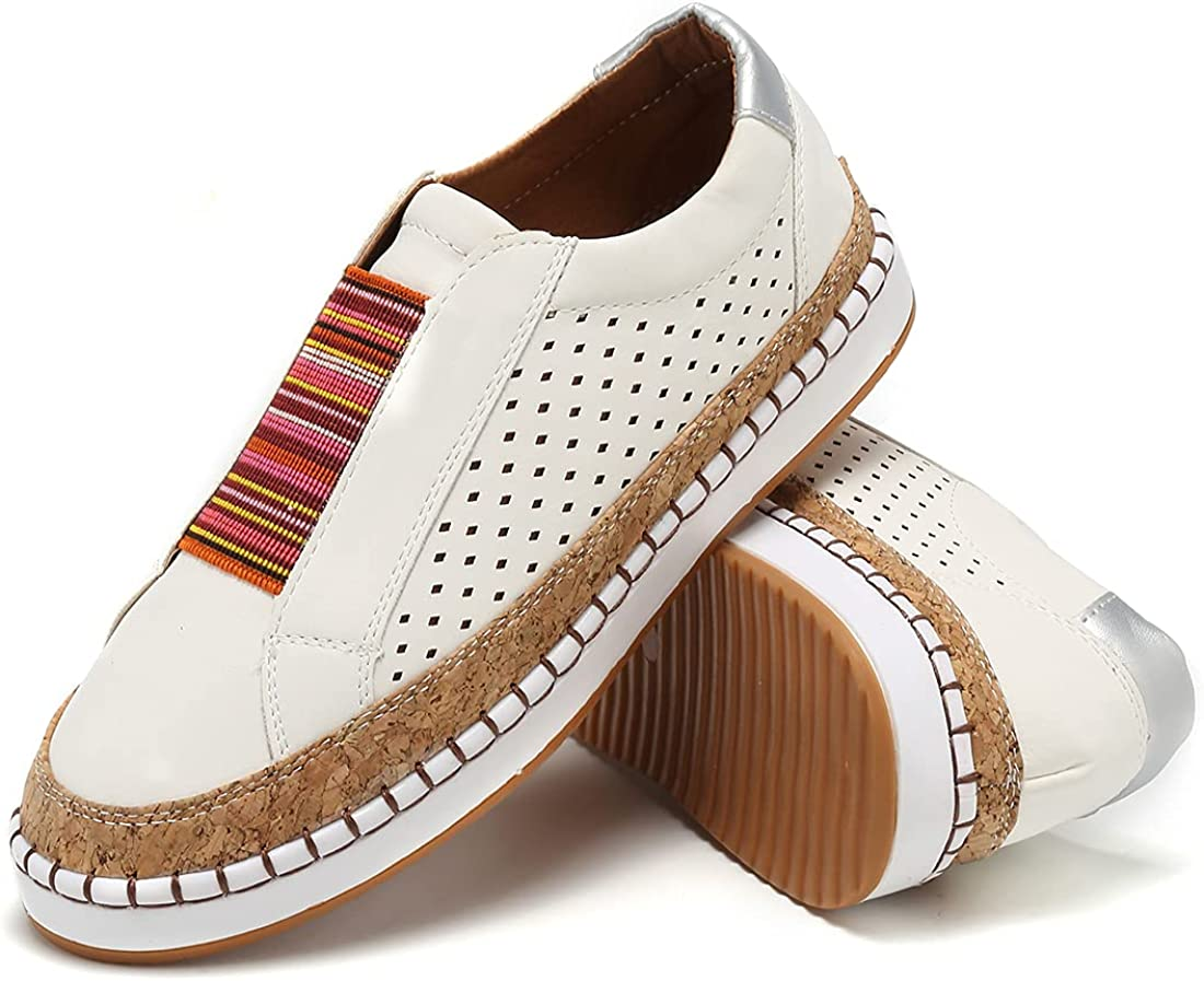 GOUPSKY Slip on Sneakers for Perforated Fashion Loafers Philadelphia Mall Minneapolis Mall Fl Women