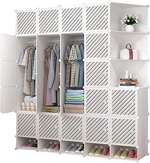 Garde-robe Armoire de Rangement Armoire Simple Assemblée Plastique Tissu Simple Location Chambre Petite Maison XINYALAMP (...