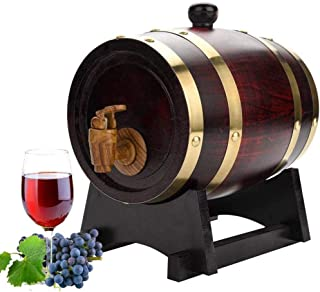 1.5L/3L/5L/10L Oak Barrel Wooden Barrel, Wine Casks for Storage or Aging Wine & Spirits Wine Barrels Wine Holder for Servi...