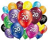 FABSUD Globos de cumpleaños 20 años – Lote de 20 globos 20