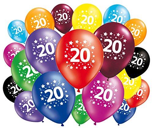 Fabsud, Palloncini per feste di compleanno dei 20anni, confezione da 20