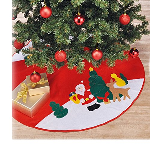 JEMIDI Weihnachtsbaum Christbaum Decke Weihnachtsbaumdecke Unterdecke Unterlage Christbaumdecke 90cm Durchmesser
