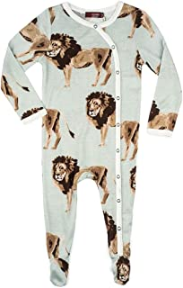 Bamboo Footed Baby Romper, Lion