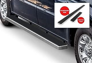 APS iBoard Running Boards 5-inch Silver Custom Fit 2012-2020 Nissan NV 1500 2500 3500 Full Size Van (Nerf Bars Side Steps Side Bars)