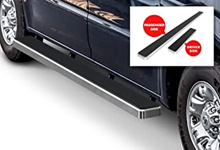APS iBoard Running Boards (Nerf Bars Side Steps Step Bars) Compatible with 2012-2020 Nissan NV 1500 2500 3500 Full Size Van (Silver Powder Coated 5 inches)