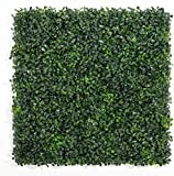 "DOEWORKS Artificial Boxwood Hedges Panels, 20"" x 20"" Faux Plant Ivy Fence Wall Cover, Outdoor Privacy Fence Screening Garden Decoration - 6 Pack"