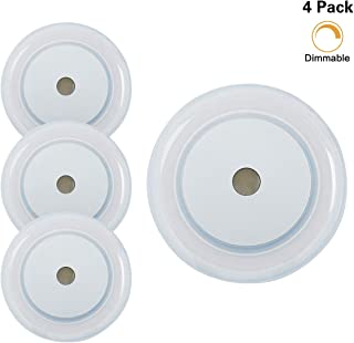 3W RV Boat LED Touch Ceiling Light - Dimmer DC 12V 2800K Soft White Memory Light Annular Frosted Lens with Stepless Dimmable, Surface Mount, Hidden Fasteners Design for Boat Camper Ccabinet, Pack of 4