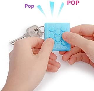 Berocia Fidget Stress Relief Toys for Adults Novelty Toys for Kids Bubble Wrap Keychain Fidget Pop Squeeze Toy Blue