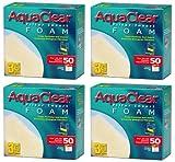 Paquete de 4 Insertos de Espuma Aqua Clear para acuarios de 50 galones (3 Unidades) por paquete/12 Insertos totales