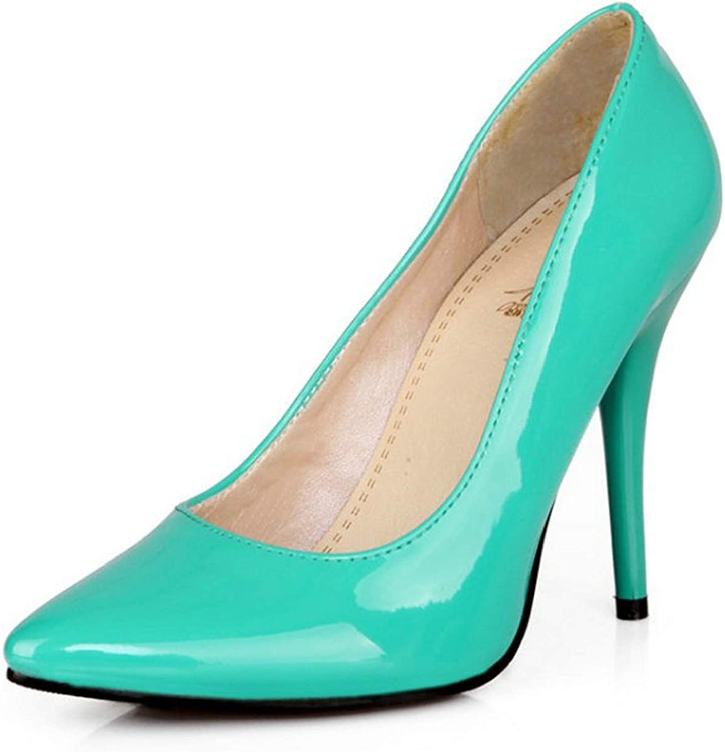 Micca Bacain PU Leather Woman Thin High Heels colorful Stiletto Office Lady Pumps Women shoes