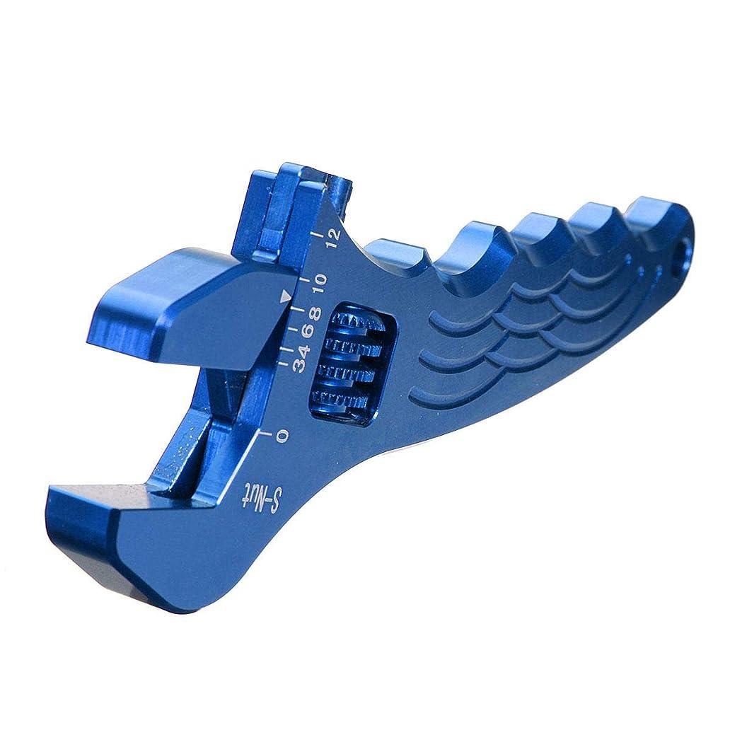 放射する送ったプロットスパナセット アジャスタブルアルミレンチフィッティングツールスパナ3色の家庭用ツール JPTYL (Color : E ブルー)
