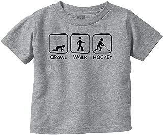 Crawl Walk Ice Hockey Athlete Parents Baby Toddler T Shirt