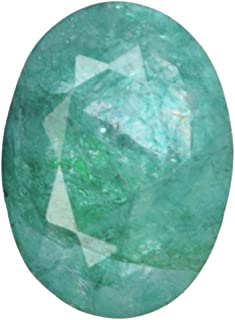 Real Gems Hermosa Esmeralda Natural 7.00 CT. Piedra Suelta, Piedra Preciosa Suelta Esmeralda Cortada Ovalada fabricación d...