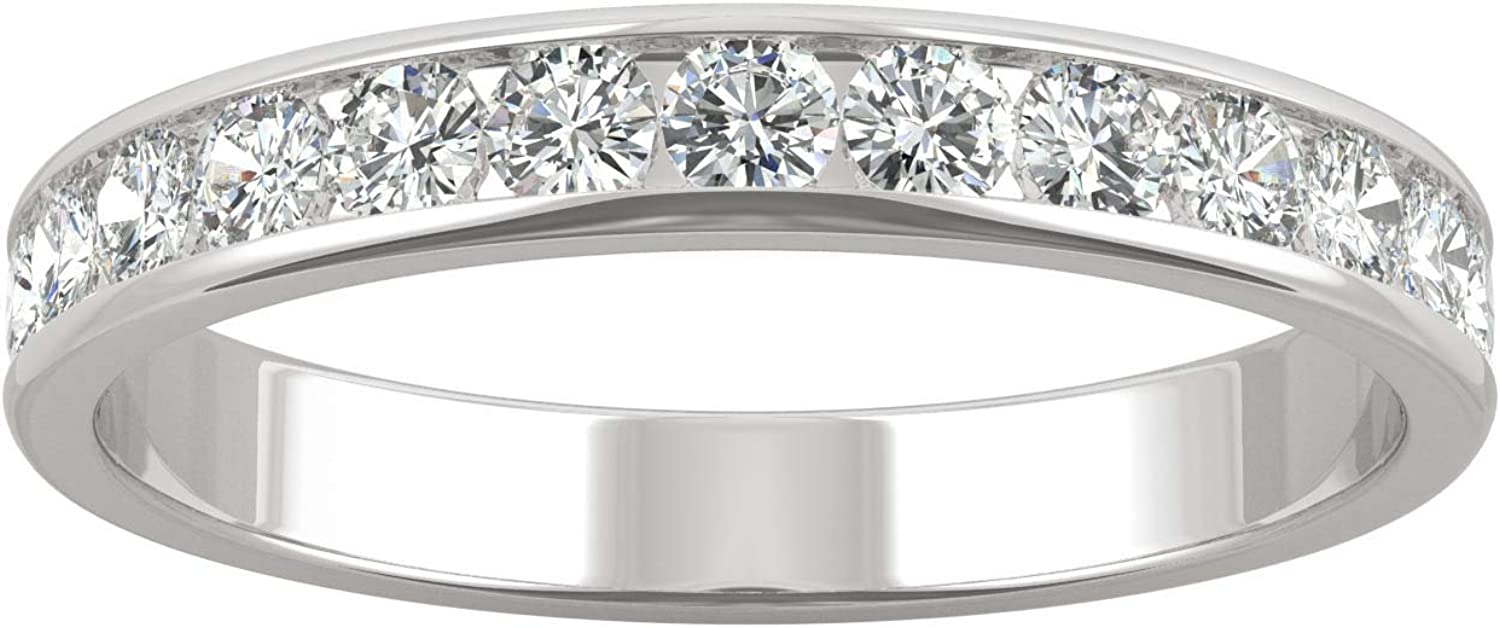 14K White Gold Moissanite by Beauty products 2.2mm Weddi High quality new Colvard Charles Round