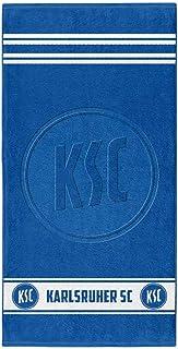 Karlsruher SC Duschtuch blau hochtief Badetuch 70 x 140 cm Strandtuch L Handtuch KSC