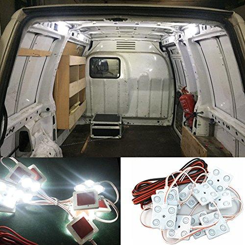 Luces de techo de 12 V 40 LED para interior de coche, para furgoneta, tunk, caravana, barco, remolque