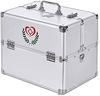 AINIYF White Family Medicine Package Aluminum Alloy Special Size Multi-Layer Complete First Aid Kit Access Medical Products Family Medical (Size : 14l)