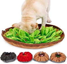 "Dog Snuffle Mat, Womdee Nosework Blanket 18.9 * 18.9"" Training Feeding Mat for Encourage Natural Foraging Skills and Stress Release, Durable and Machine Washable Fun Play Mat for Dogs"